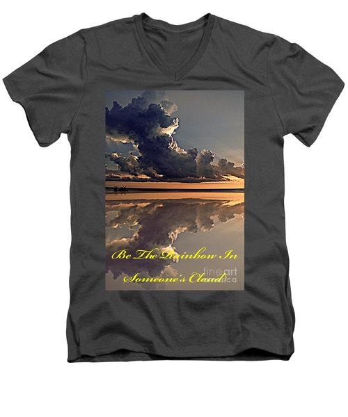 Be The Rainbow Men's V-Neck T-Shirt