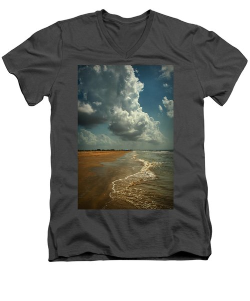 Beach And Clouds Men's V-Neck T-Shirt
