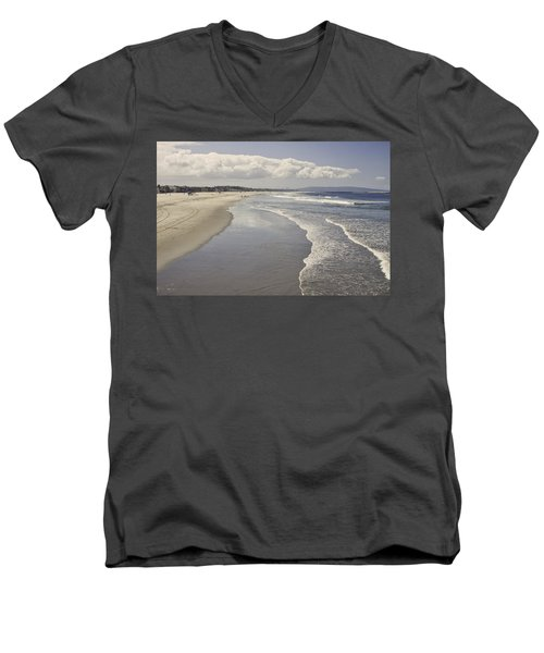 Beach At Santa Monica Men's V-Neck T-Shirt