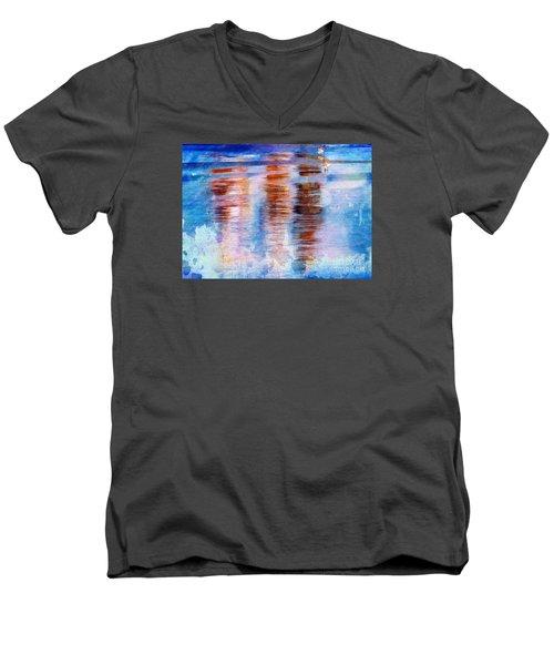 Beach Colors Men's V-Neck T-Shirt by Marcia Lee Jones