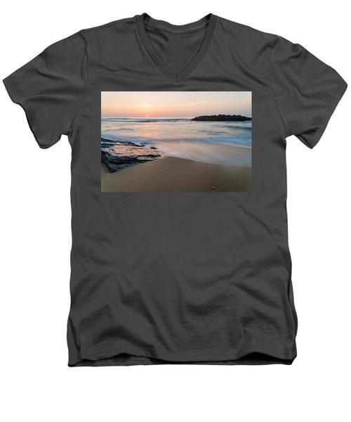 Men's V-Neck T-Shirt featuring the photograph Beach Day by Kristopher Schoenleber