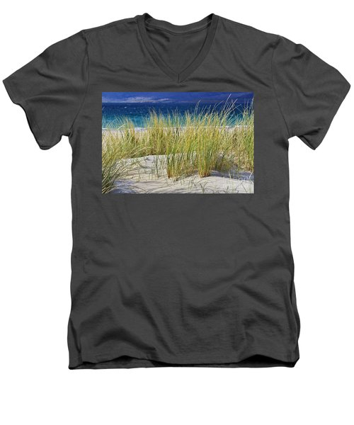 Beach Gras Men's V-Neck T-Shirt by Juergen Klust