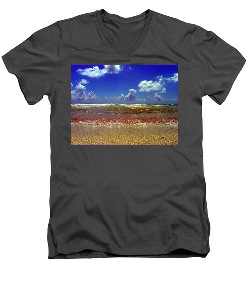 Beach Men's V-Neck T-Shirt by J Anthony