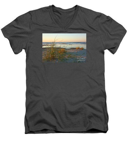 Beach Morning Men's V-Neck T-Shirt by Kevin McCarthy