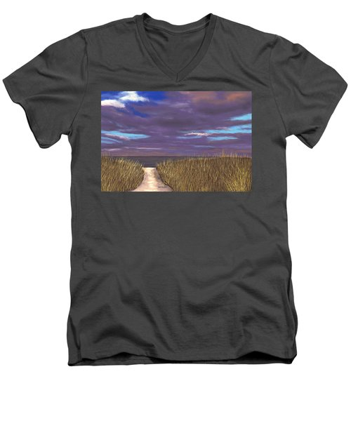 Beach Path Men's V-Neck T-Shirt