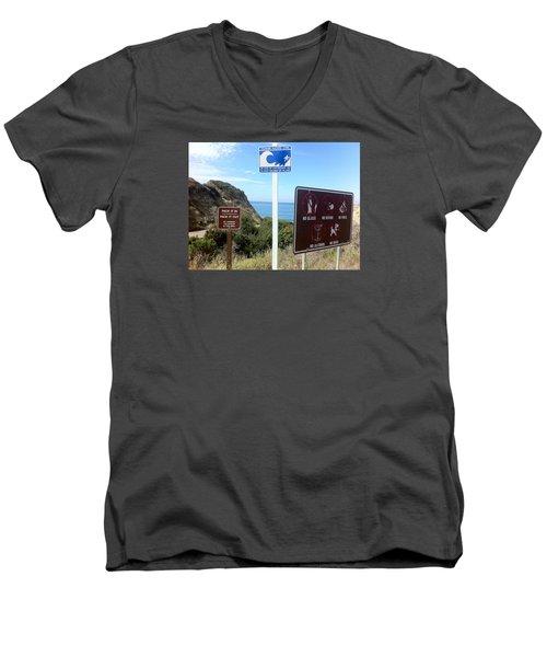 Beach Signs San Clemente Men's V-Neck T-Shirt