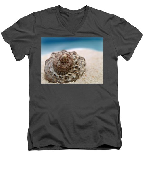 Men's V-Neck T-Shirt featuring the photograph Beach Treasure by Micki Findlay