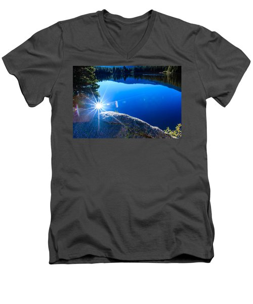 Bear Lake Men's V-Neck T-Shirt