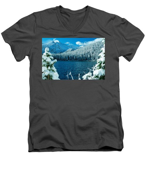 Bear Lake Men's V-Neck T-Shirt by Eric Glaser