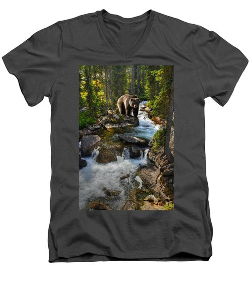 Bear Necessity Men's V-Neck T-Shirt