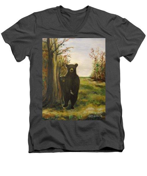 Bear Necessity Men's V-Neck T-Shirt