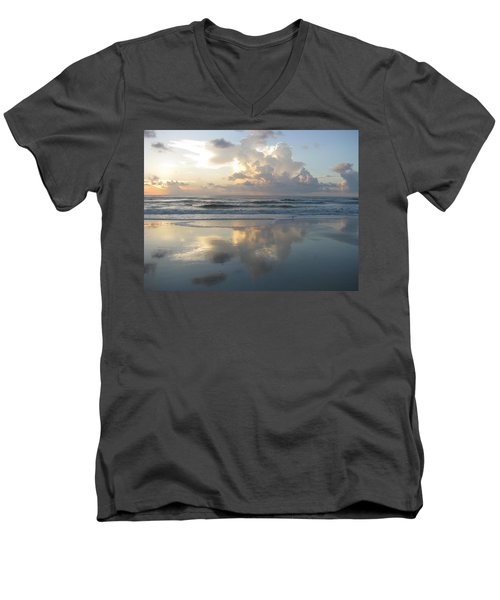 Beautiful Beach Sunrise Men's V-Neck T-Shirt