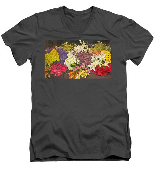 Beautiful Blooms Men's V-Neck T-Shirt