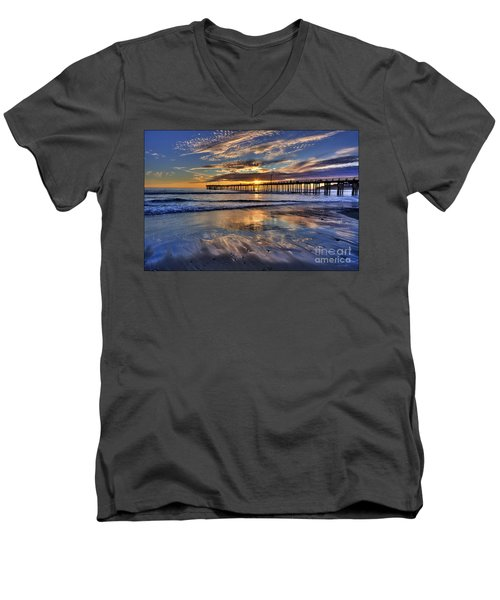 Beautiful Cayucos Men's V-Neck T-Shirt