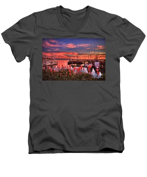 Beautiful Harbor Men's V-Neck T-Shirt