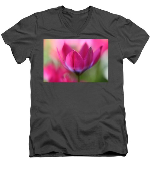 Beautiful Pink Men's V-Neck T-Shirt