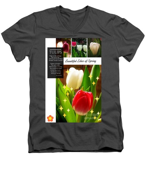 Beautiful Tulip Series 1 Men's V-Neck T-Shirt