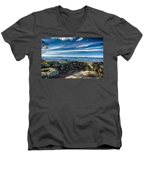 Beautiful View Of Mountains And Sky Men's V-Neck T-Shirt