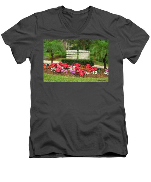 Beauty At Pelican Cove Men's V-Neck T-Shirt by Emmy Marie Vickers
