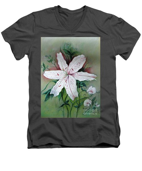 Beauty For Ashes Men's V-Neck T-Shirt by Hazel Holland