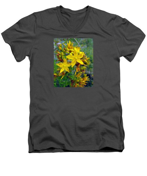 Beauty In A Weed Men's V-Neck T-Shirt by I'ina Van Lawick