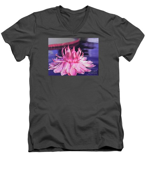 Men's V-Neck T-Shirt featuring the photograph Beauty Of Pink At The Ny Botanical Gardens by Chrisann Ellis
