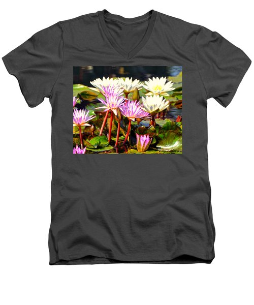 Men's V-Neck T-Shirt featuring the photograph Beauty On The Water by Marty Koch