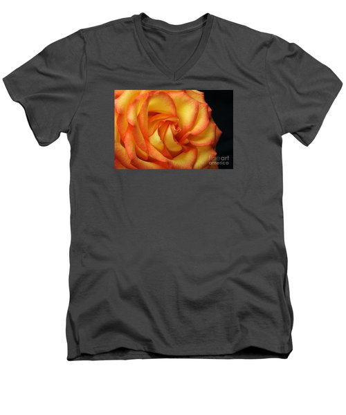 Men's V-Neck T-Shirt featuring the photograph Beauty Unfolds by Judy Whitton