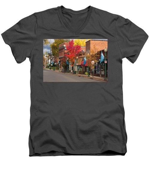 Beaver St  Sewickley Men's V-Neck T-Shirt