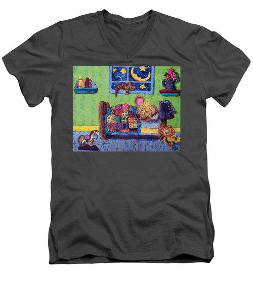 Bedtime Mouse Men's V-Neck T-Shirt