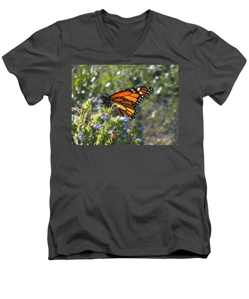 Bee And Monarch  Men's V-Neck T-Shirt