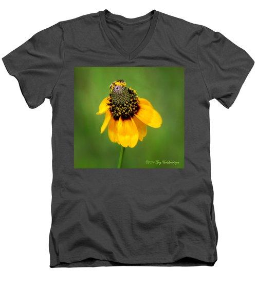 Bee My Coneflower Men's V-Neck T-Shirt