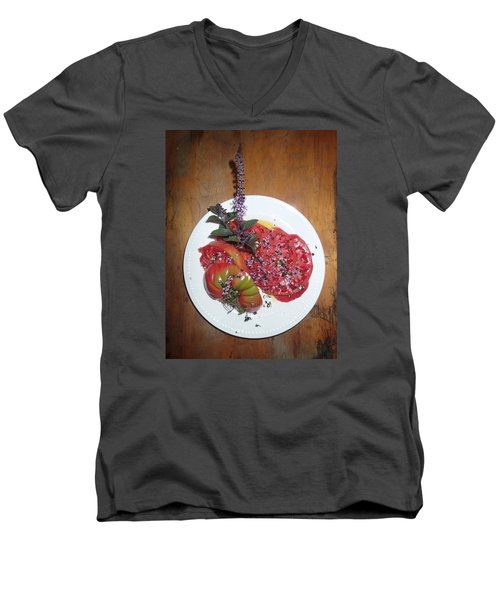 Men's V-Neck T-Shirt featuring the photograph Beefsteak by Robert Nickologianis