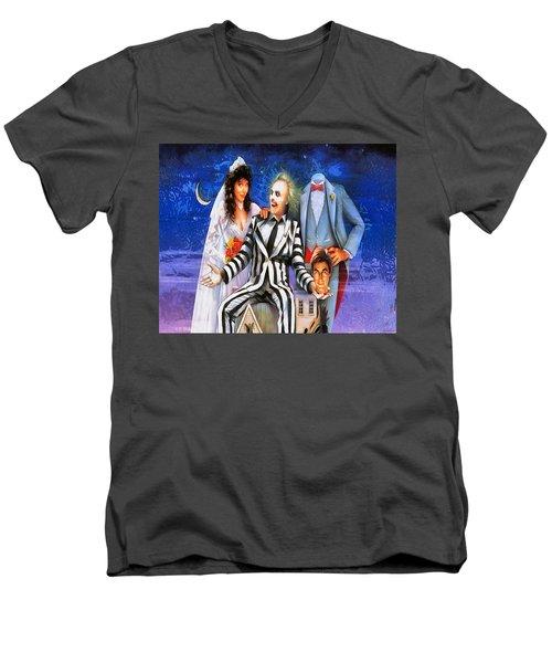Beetlejuice Men's V-Neck T-Shirt