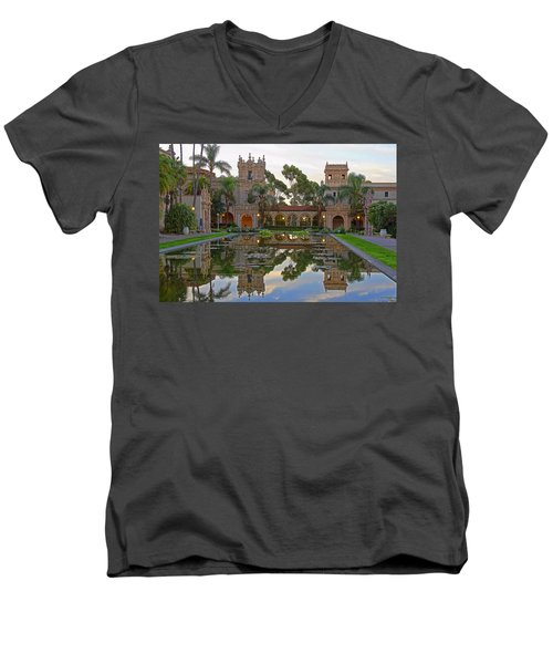 Men's V-Neck T-Shirt featuring the photograph Before The Crowds by Gary Holmes