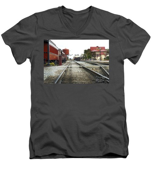 Before The First Passengers Men's V-Neck T-Shirt
