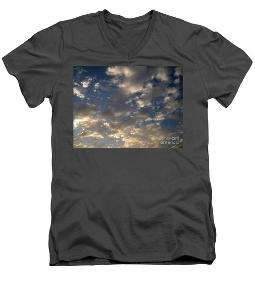 Before The Rain Men's V-Neck T-Shirt by Joseph Baril