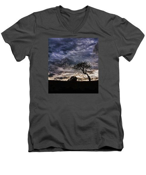 Nova Scotia's Lonely Tree Before The Storm  Men's V-Neck T-Shirt