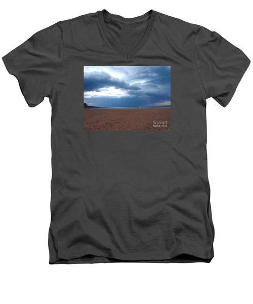 Men's V-Neck T-Shirt featuring the photograph Before The Storm by Susan  Dimitrakopoulos
