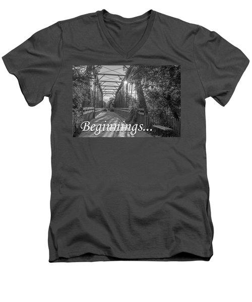 Beginnings... Men's V-Neck T-Shirt