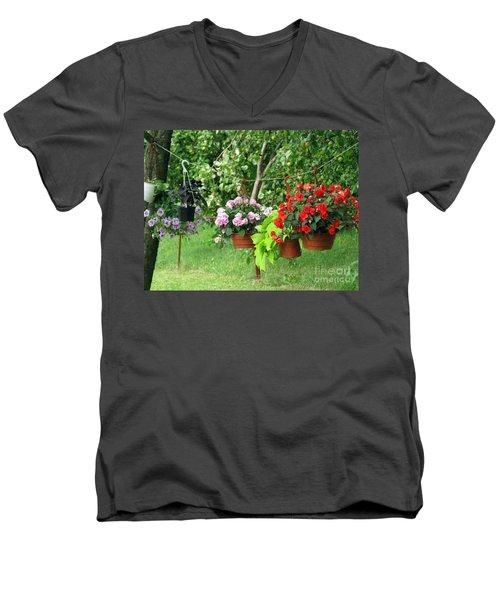 Begonias On Line Men's V-Neck T-Shirt