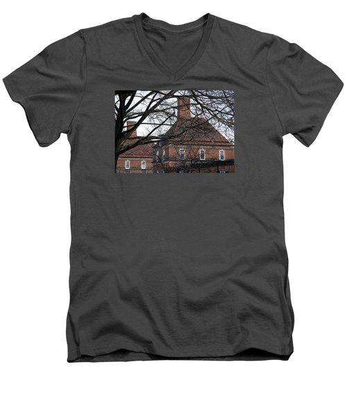 The British Ambassador's Residence Behind Trees Men's V-Neck T-Shirt by Cora Wandel