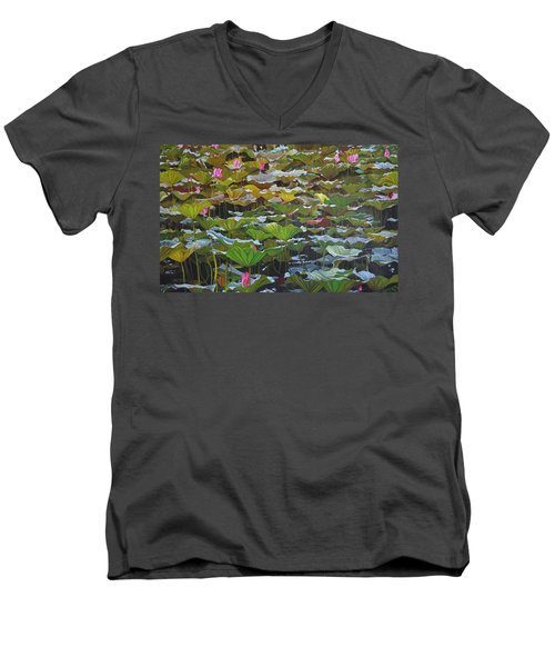 Beijing In August Men's V-Neck T-Shirt by Thu Nguyen