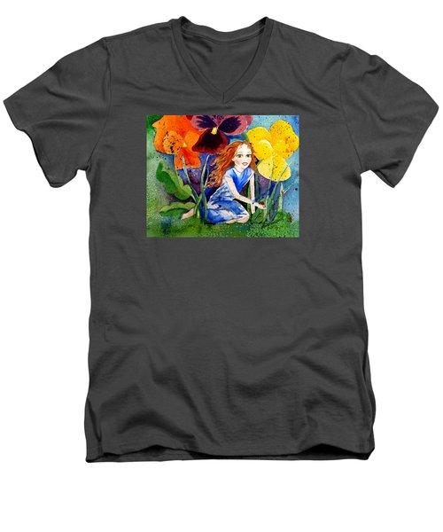 Tiny Flower Fairy Men's V-Neck T-Shirt