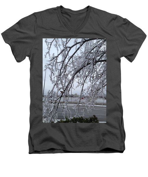Bejewelled Branches Men's V-Neck T-Shirt by Pema Hou