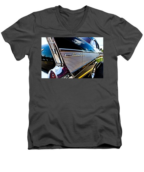 Men's V-Neck T-Shirt featuring the photograph Bel Air Reflections by Joann Copeland-Paul