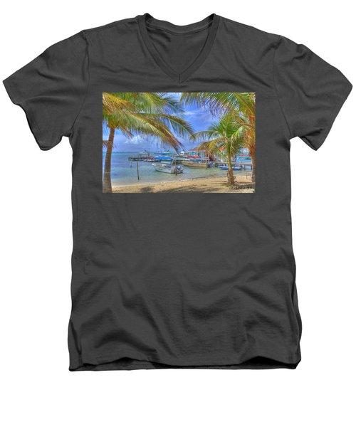 Belize Hdr Men's V-Neck T-Shirt