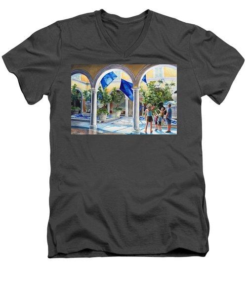 Bellagio Kite Flight Men's V-Neck T-Shirt