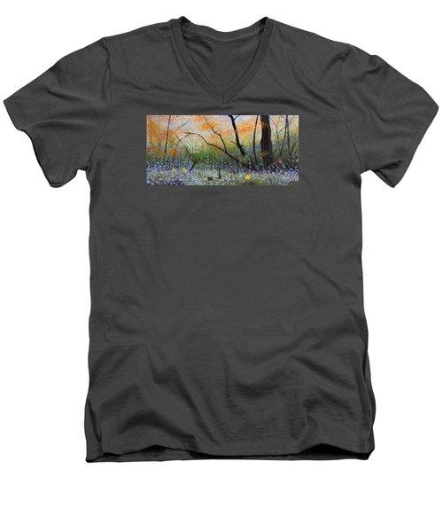 Belleza Por Cenizas Men's V-Neck T-Shirt by Angel Ortiz