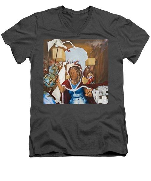Bellona Goddess Of War Sister Of Mars Men's V-Neck T-Shirt